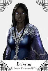The immortal Lady Erulorian, a servant of the Court of Barezeth.