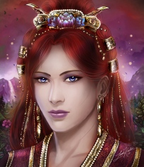 The immortal lady Saroparel, ruler of the Court of Imbire