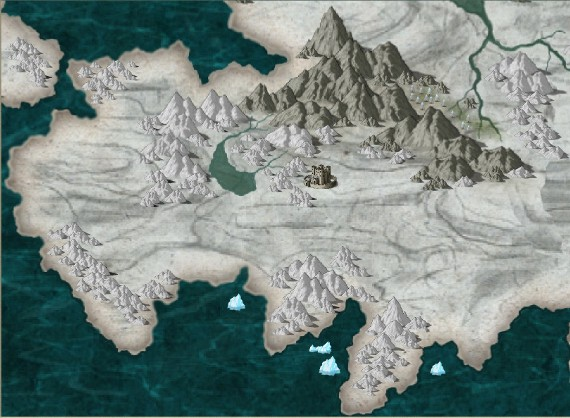 The old map of Nezruthar, created in Campaign Cartographer using the CC3 Annual DeRust Overland Style and CC3 Standard Symbols.