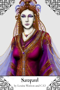 The immortal lady Saroparel, ruler of the Court of Imbire.