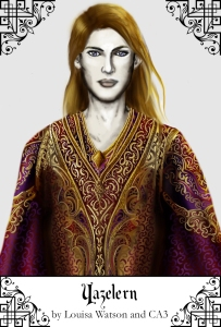 The immortal lord Yazelern, ruler of the Court of Thasenare.