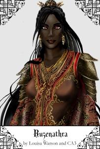 The immortal Lady Ruzenathra, ruler of the Court of Veskansare