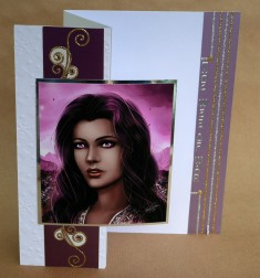 A trifold card (closed)
