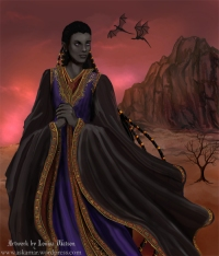 The immortal Lord Daskesurul, one of the characters from my epic fantasy saga, The Immortals of Askamar Louisa Watson
