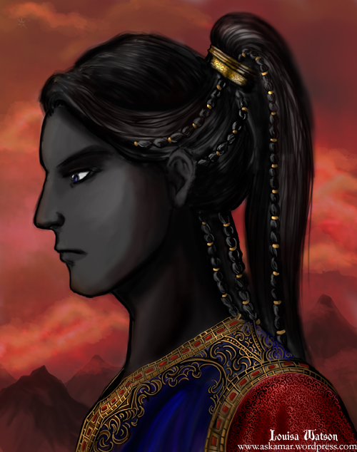 A picture of the immortal lord Daskesurul in profile