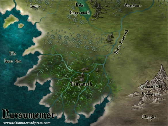 A fantasy map from the realm of Askamar