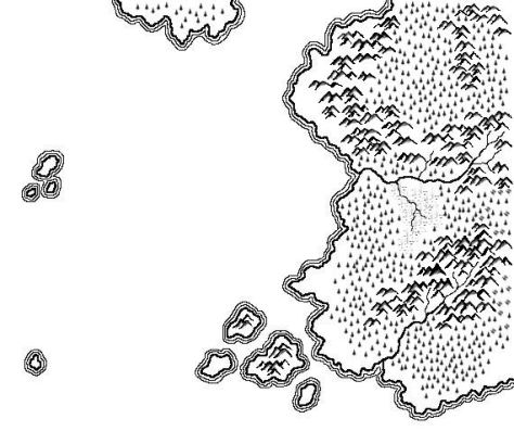 A map of Vosthegan drawn with a tablet in Corel Photo-Paint 10