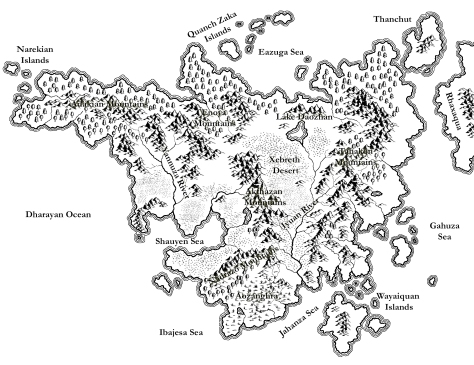 A map of Razurea made with CC3 and Adobe Photoshop.