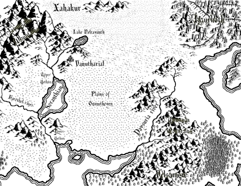 A map of Karshulure created with Campaign Cartographer 3 (CC3) and Adobe Photoshop Elements.