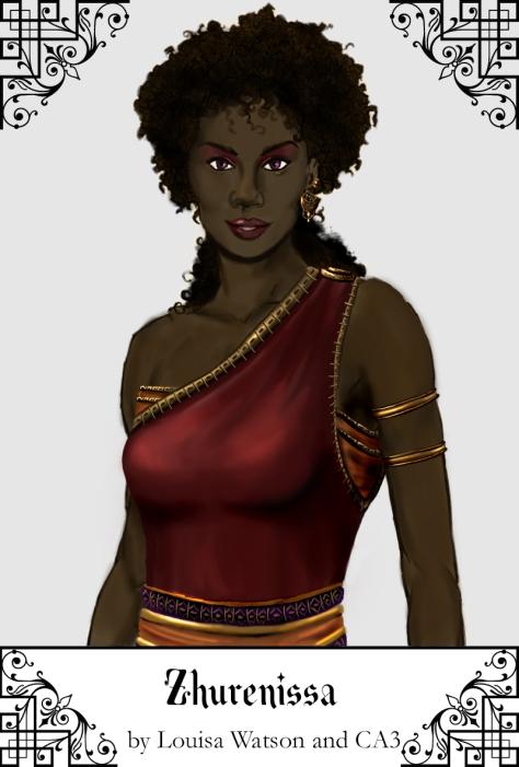 A portrait of Zhurenissa