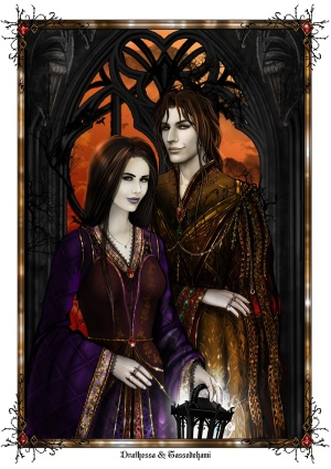 A painting of Drathessa and Tassedehami by Maggie