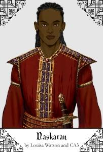 A portrait of Naskaran created using CA3