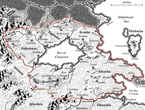 A map of the Yanbukan empire