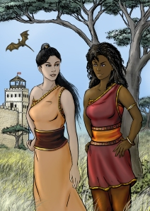 A picture of Yaresora and Zhurenissa by Louisa