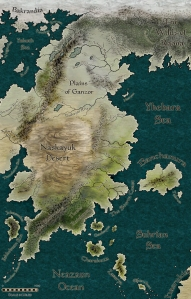A map of Skanshuria created with CC3