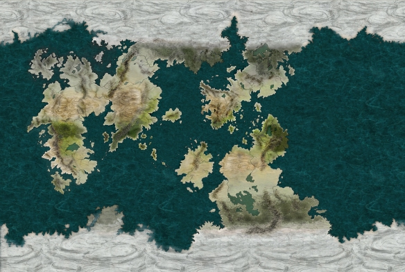 A map of Udaris created using CC3 and Adobe Photoshop Elements 18