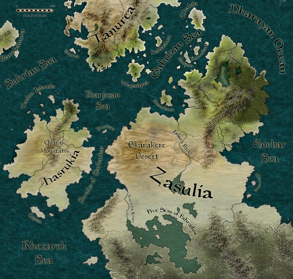 A map of Zasulia created with CC3