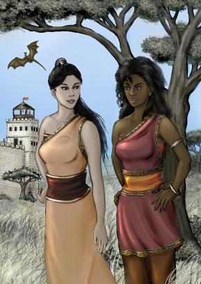 Yaresora and Zhurenissa Artwork by Louisa